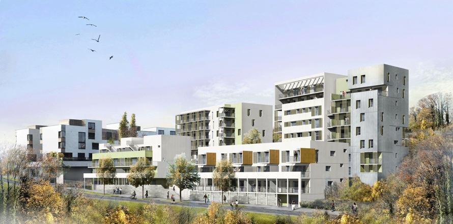 62 logements mixtes qe bbc la duch re lyon 69 for Architecture lyon
