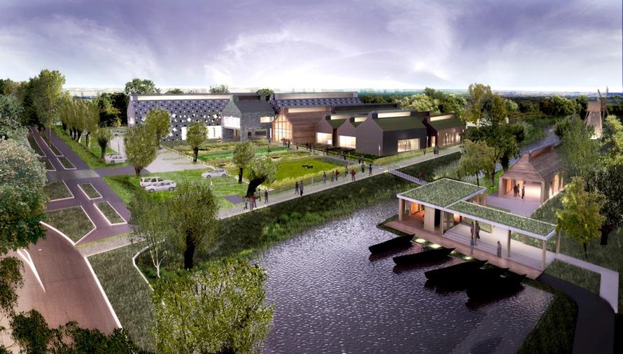 Marsh house and its surrounding landscape eq et passive for Architecture du paysage